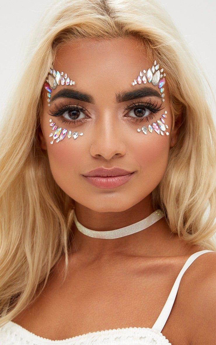 pedrarias na maquiagem de carnaval