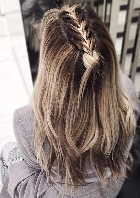 penteado de trança de unicórnio