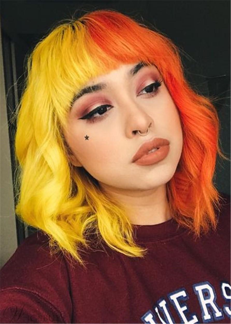 cabelo amarelo e laranja