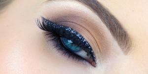 Maquiagem com glitter para o dia