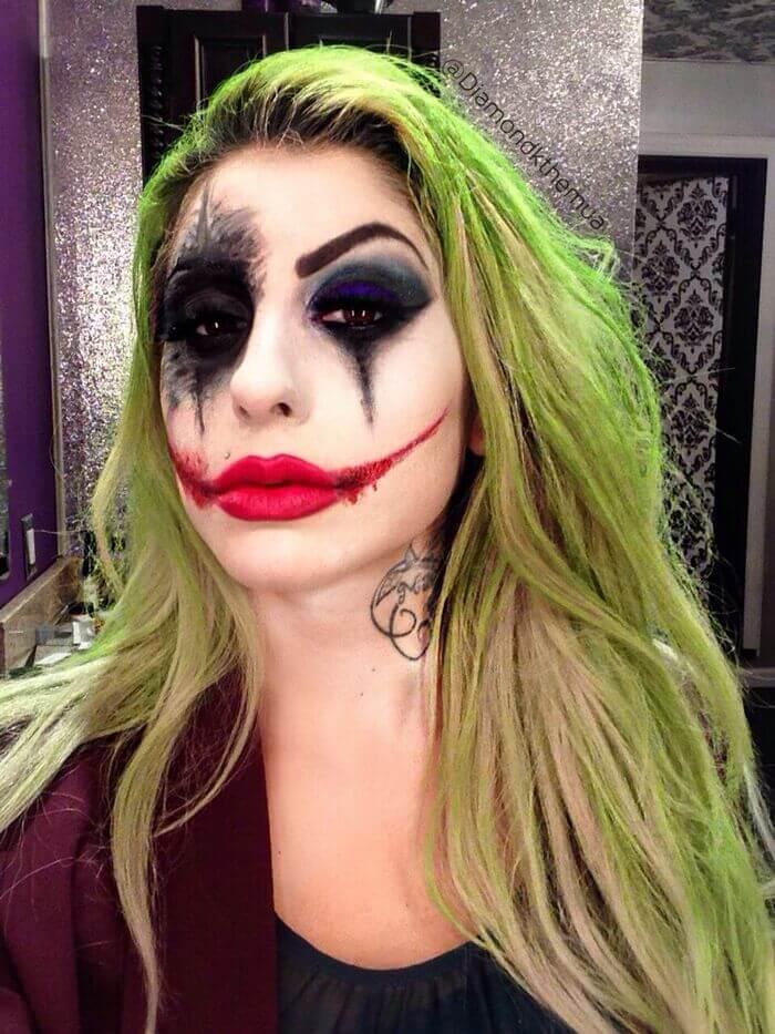 Maquiagem coringa halloween