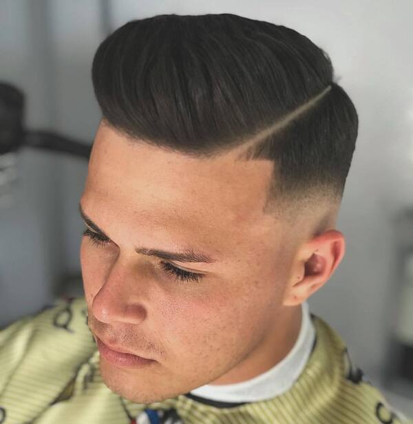 Corte de cabelo degradê razor part