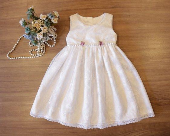 vestido de batizado para criança