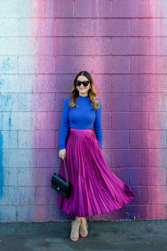 Cores como tendência de moda 2021