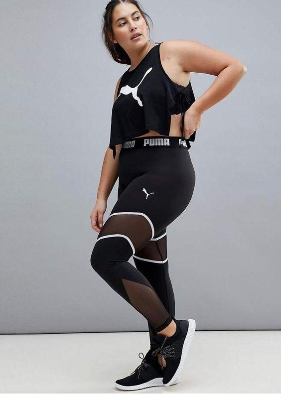 Moda fitness Plus Size