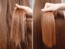 antes e depois cabelo ressecado pontas duplas