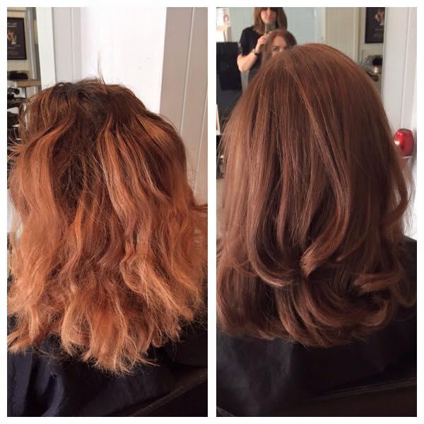 antes e depois cabelo ressecado quebradiço