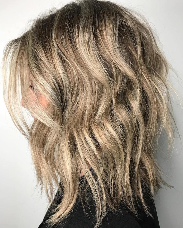 long bob cabelo ondulado