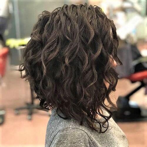 long bob em cabelo cacheado