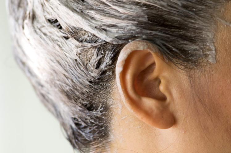 tintura em cabelo